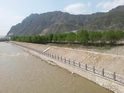 西宁市大通县北川河河道防洪综合治理项目即将完成图片