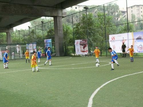 足球民间争霸赛青海西宁赛区海选赛启动仪式,在西宁市体育中学青少图片