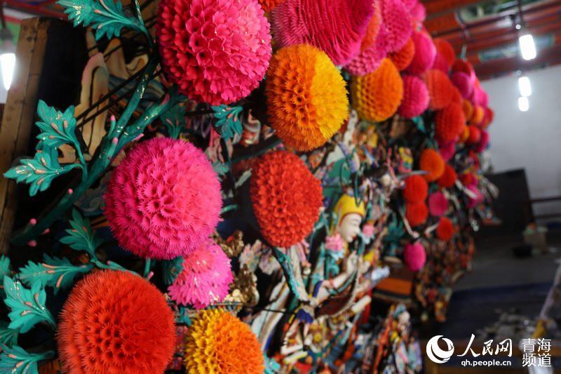 元宵节 青海塔尔寺酥油花盛大展出