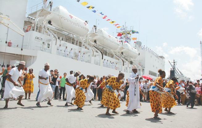 和平方舟医院船时隔7年再访坦桑尼亚