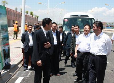 王建军、毛小兵视察朝阳物流园区--青海频道--